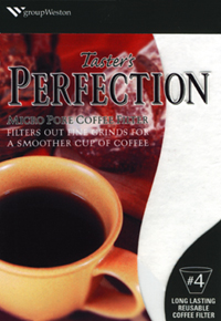 groupWeston Taster's Perfection reusable gourmet coffee filter.